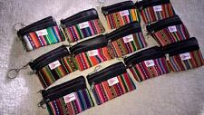 12  Wholesale Small Key Coin chain Manta Zippered  Made in Peru!