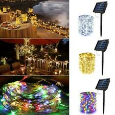 Waterproof LED Solar String Light Lights Copper Wire Party Fairy Outdoor P5R0