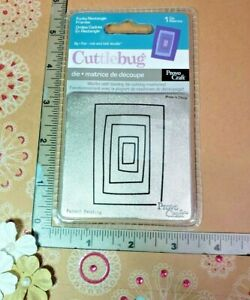 NIP Provo Craft  Cuttlebug  FUNKY RECTANGLES CARDS