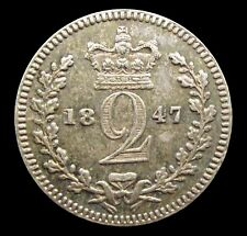 More details for victoria 1847 silver maundy twopence - gef