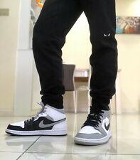 Nike Air Jordan 1 MID  Shadow Black/White/LT-Smoke Grey 554724 073