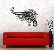 Wall Stickers Weapons Gun Pattern Flowers Love Heart Decor Vinyl Decal (ed558)
