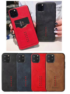 iPhone 11 Pro Leather Slim Wallet Card Slot Back Case Cover