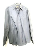 Donna Karan DKNY Mens Dress Shirt Long Sleeve Button Down Blue Size 16.5 34-35
