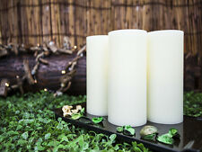 Lyra Candle, Flameless LED Ivory Round Candles with Remote, 6-inch Set of 3