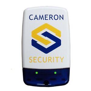 Dummy / Decoy security Alarm Bell Box, dual Flashing LED's & printed logo (C)