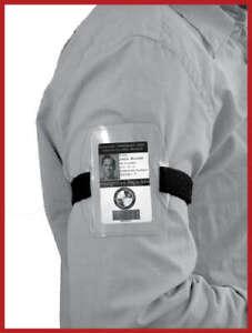 Armband Card Holder Black Band Security Id Card Holder Arm Band
