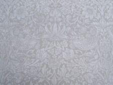 William Morris Curtain Fabric 'pure Strawberry Thief' 3.6 Metres Dove 100 Linen