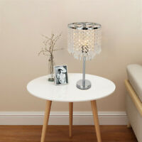 Crystal Table Lamp Elegant Decorative Desk Lamp With Crystal Shade Ceiling Lamp