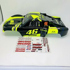 NEW Traxxas Slash VR46 Body Valentino Rossi Yellow Black GoPro Oakley 2WD 4X4
