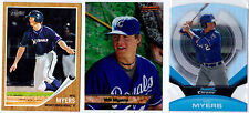 WIL MYERS 2011 TOPPS HERITAGE BOWMANS BEST 2013 BOWMAN CHROME DIE CUT (3) LOT RC