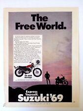 1969 Suzuki TS-250 Savage Motorcycle Original Print
