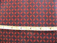 NAVY & RED abstract-OOP 1999 100% cotton sew fabric clothing+ 4-1/3 YARDS plus