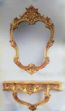 Wall Mirror with Console Gold Mirror 50x35 Baroque Wall Mirror Storage C444