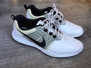 Nike Explorer Ctrl Control Men's Size 9 White Black Golf Shoes 704694-100