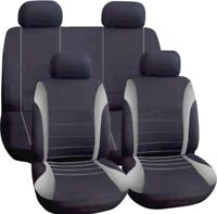 NEW WNB Universal Car Seat Covers Full Set Grey/Black Washable Airbag Safe