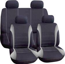 Universal Car Seat Covers Set COMPLETO GRIGIO/NERO Lavabile Air Bag si adatta ALFA remeo