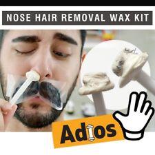 Groomarang Adios Nose Ear Hair Removal Wax Kit Painless & Easy Mens Nasal Waxing
