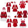 Boys Girls Christmas Santa Clause Costume Toddler Kids Xmas Cosplay Fancy Dress