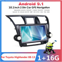 For 2008-13 Toyota Kluger Car Stereo Radio Player 10.1 inch Android 9.1 GPS Navi
