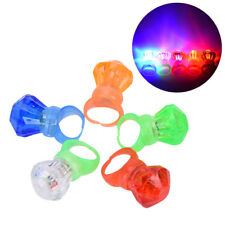 5pcs LED Flashing Ring Finger Shiny Kids Party Light up Glow in the dark Ring EB