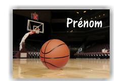 Plaque de porte en ( sur ) bois  Basket  avec prénom   N° 157 ( sport )