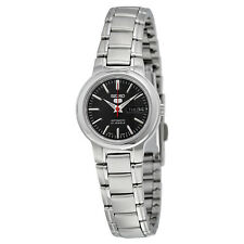 Seiko 5 Black Dial Stainless Steel Automatic Ladies Watch SYME43
