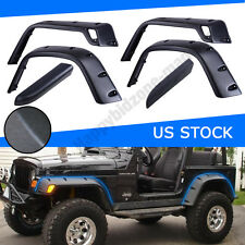 "6PC 97-06 Jeep Wrangler TJ 6"" Wide Black Pocket Extended Fender Flares Kit"