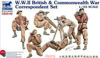 Bronco 1/35 35140 WWII British & Commonwealth War Correspondent Set Hot