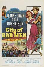 CITY OF BAD MEN Movie POSTER 27x40 Jeanne Crain Dale Robertson Richard Boone