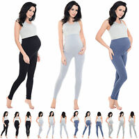 Women's Maternity, Over The Bump Full Length Stretchy Soft Viscose Leggings