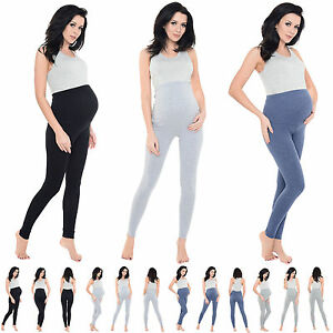 Women's Maternity, Over The Bump Full Length Stretchy Soft Viscose Leggings