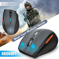 TeckNet 4800DPI Wireless Gaming Mouse Programmable Mice 6 Buttons for Game PC UK