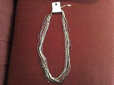 "Coldwater Creek 30"" Ombré Chains Multi-color 11-Strand Necklace"