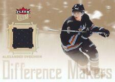 2005-06 Fleer Ultra Hockey Difference Maker JERSEY Alexander Ovechkin Capitals