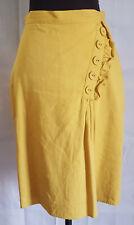 Anthropologie Burlapp Mustard pencil skirt Size US4 (AU10) Knee Length