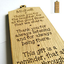 Personalised Best Friend Gift Friendship Plaque Sign -  A Friend Like You