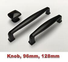 Black Kitchen Cabinet Door Drawer Handles Handle Pull 96 128 160mm Knob Knobs
