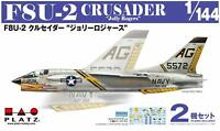 PLATZ 1/144 US F8U-2 CRUSADER Jolly Rogers 2pcs Set Kit w/ Tracking NEW