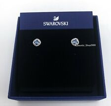 NEW SWAROVSKI Brand Blue White Crystal Angelic Pierced Stud Earrings 5352048