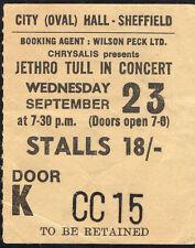 Original 1970 Jethro Tull Procol Harum concert ticket stub Sheffield UK Benefit