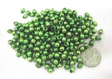 Vintage Christmas Bright Green Garland Beads 225 Loose 1/4 Inch Good Shape