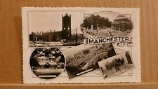 Postcard posted 1960 Lancashire Manchester, 5 views Real photo