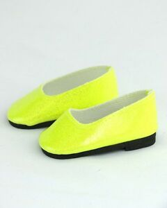 Yellow Bright Glitter Slip-on Flats Shoes fits American girl dolls Doll Clothes
