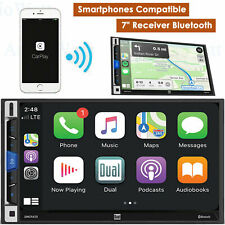"DUAL DMCPA70 7"" LCD Multimedia Receiver Bluetooth Apple CarPlay Android Auto Car"