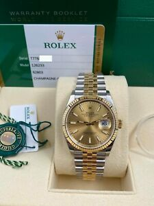 BRAND NEW Rolex Datejust 126233 18K Yellow Gold Stainless Box Paper 2020