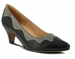 SPRING STEP ALEXIA LEATHER VINTAGE INSPIRED PUMP