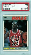 1987 Fleer Basketball Michael Jordan #59 PSA 7 NRMT Bulls HOF