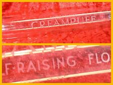 More details for vintage 1920s glass rolling pin advertising rare creampuff self-raising flour