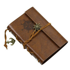Brown Anchor Faux Leather Cover Notebook Journal Diary Blank String Healthy